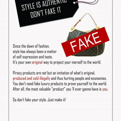 Campaign: Style is authentic, don't fake it!