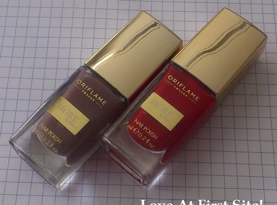 NOTD Oriflame More By Demi, Daring Brown & Hollywood Red