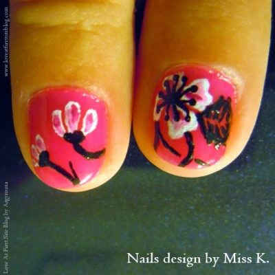 Love At First Site inspired nail design by Miss K.!