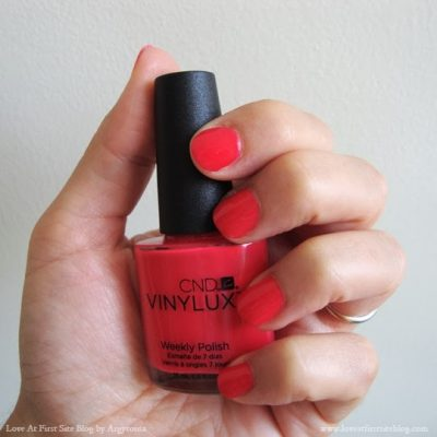 Nails of The Week! CND Vinylux Lobster Roll #122