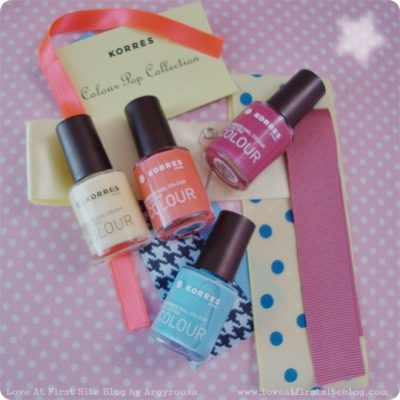 KORRES SS13 Colour Pop Collection Nail Colour Review and Swatches