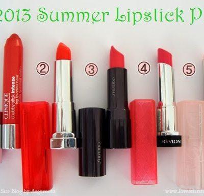LAFSB's Top 5 Summer Lipstick Picks