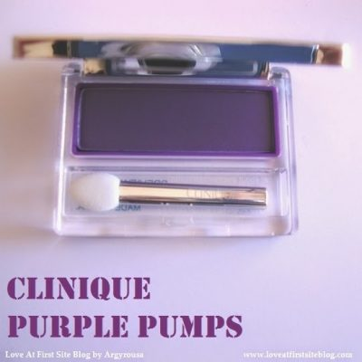 Purple for Spring.. obviously! Purple Pumps Eye Shadow by Clinique.
